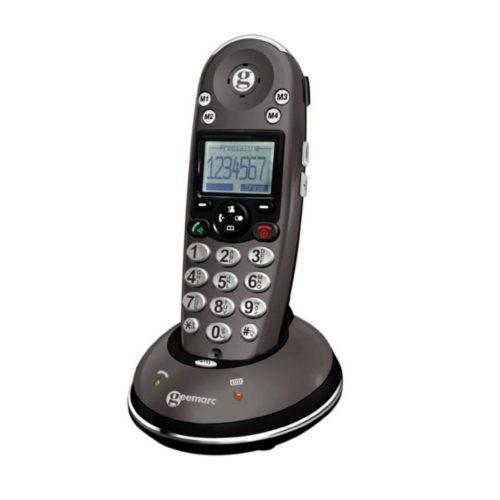 GEEMARC Aamplidect 350 Vezetéknélküli telefon Hallókészülék kompatibilis, hordozható, hívószám kijelzés, fényjelzés