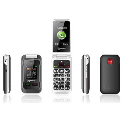 GEEMARC CL 8500 Hallókészülék kompatibilis mobiltelefon Kihajtható, beszélő gombok, SOS segélyhívó mobiltelefon